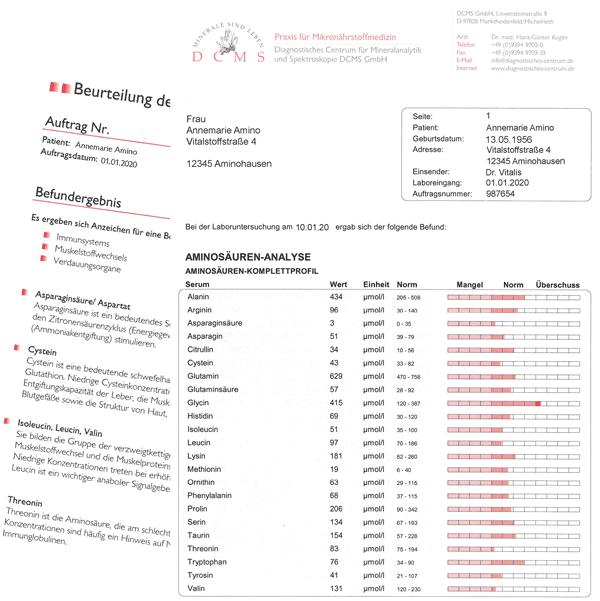 Aminosäuren-Befund